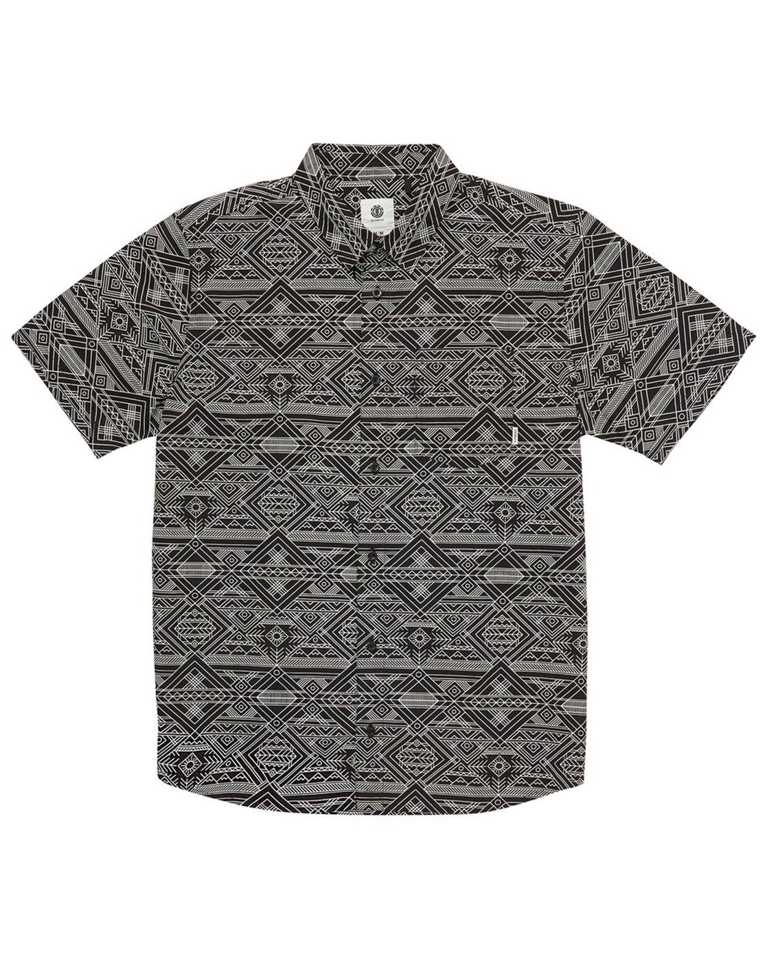 1 James Short Sleeve Shirt Black M504QEJW Element