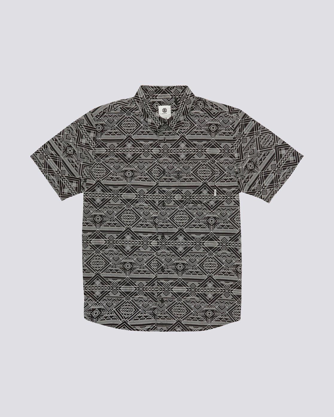 0 James Short Sleeve Shirt Black M504QEJW Element