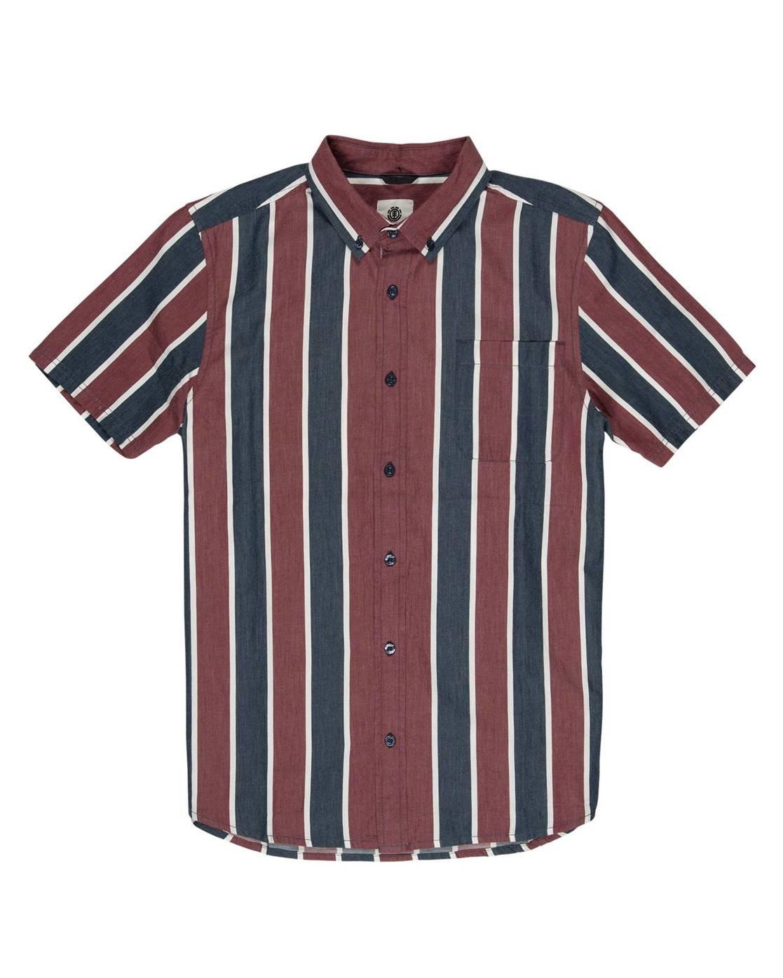 1 Icon Stripes Button Down Shirt Blue M5261EIC Element