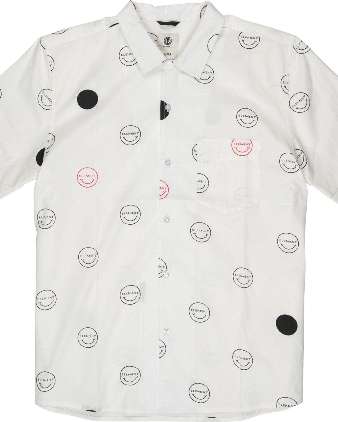 1 Polka Smile Button Down Shirt Grey M5271EPO Element