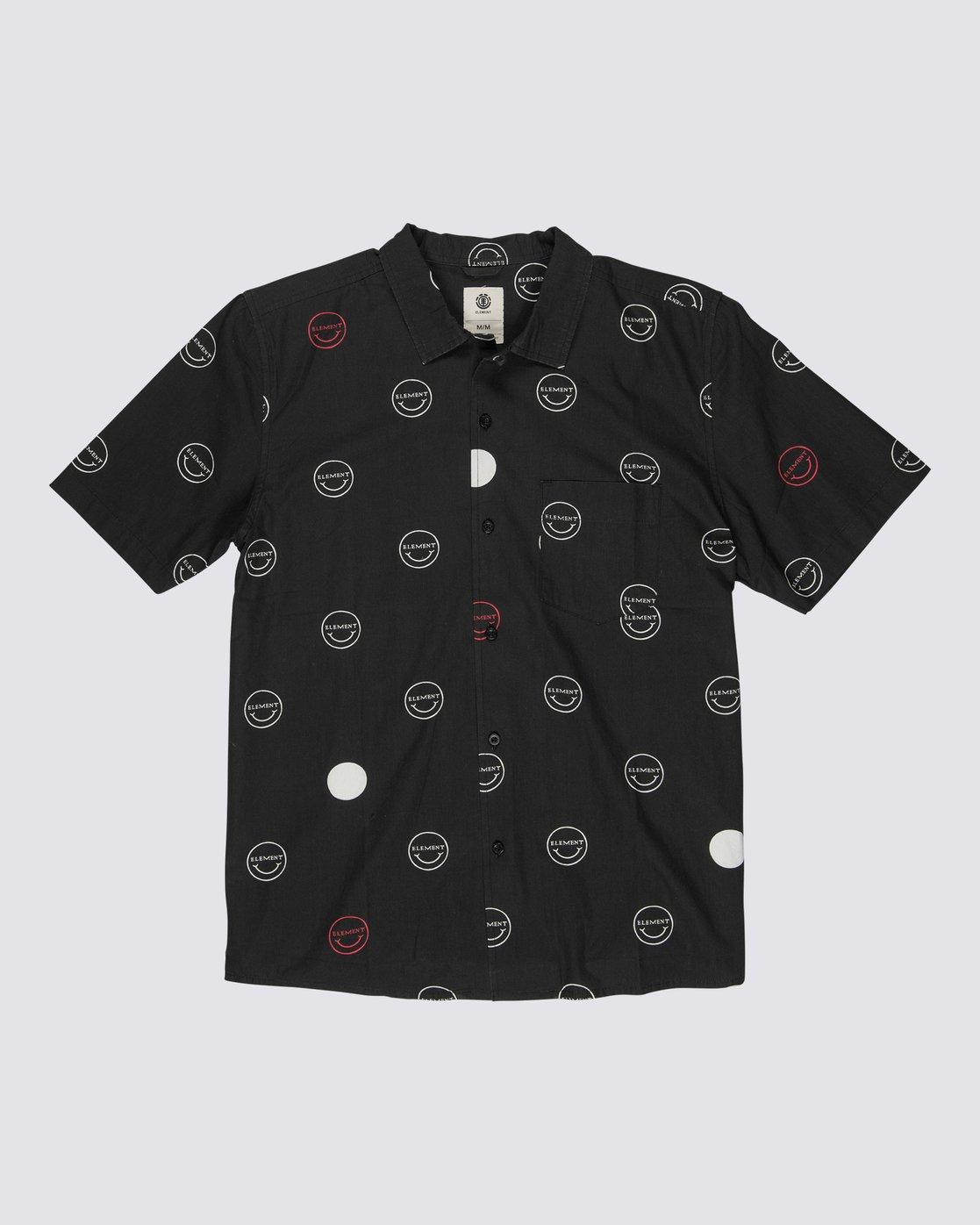 0 Polka Smile Button Down Shirt  M5271EPO Element