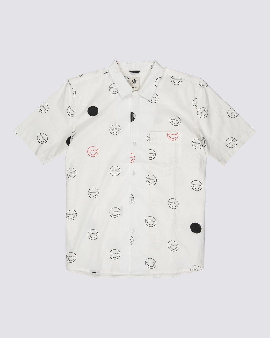 0 Polka Smile Button Down Shirt Grey M5271EPO Element