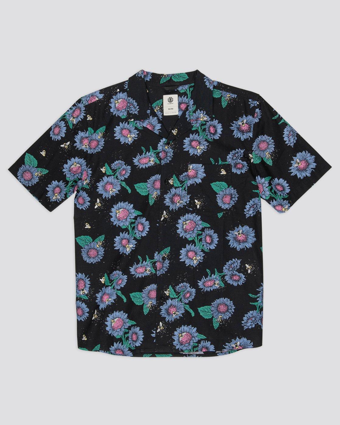 0 Sunflowers Button-Down Shirt Grey M5292ESU Element