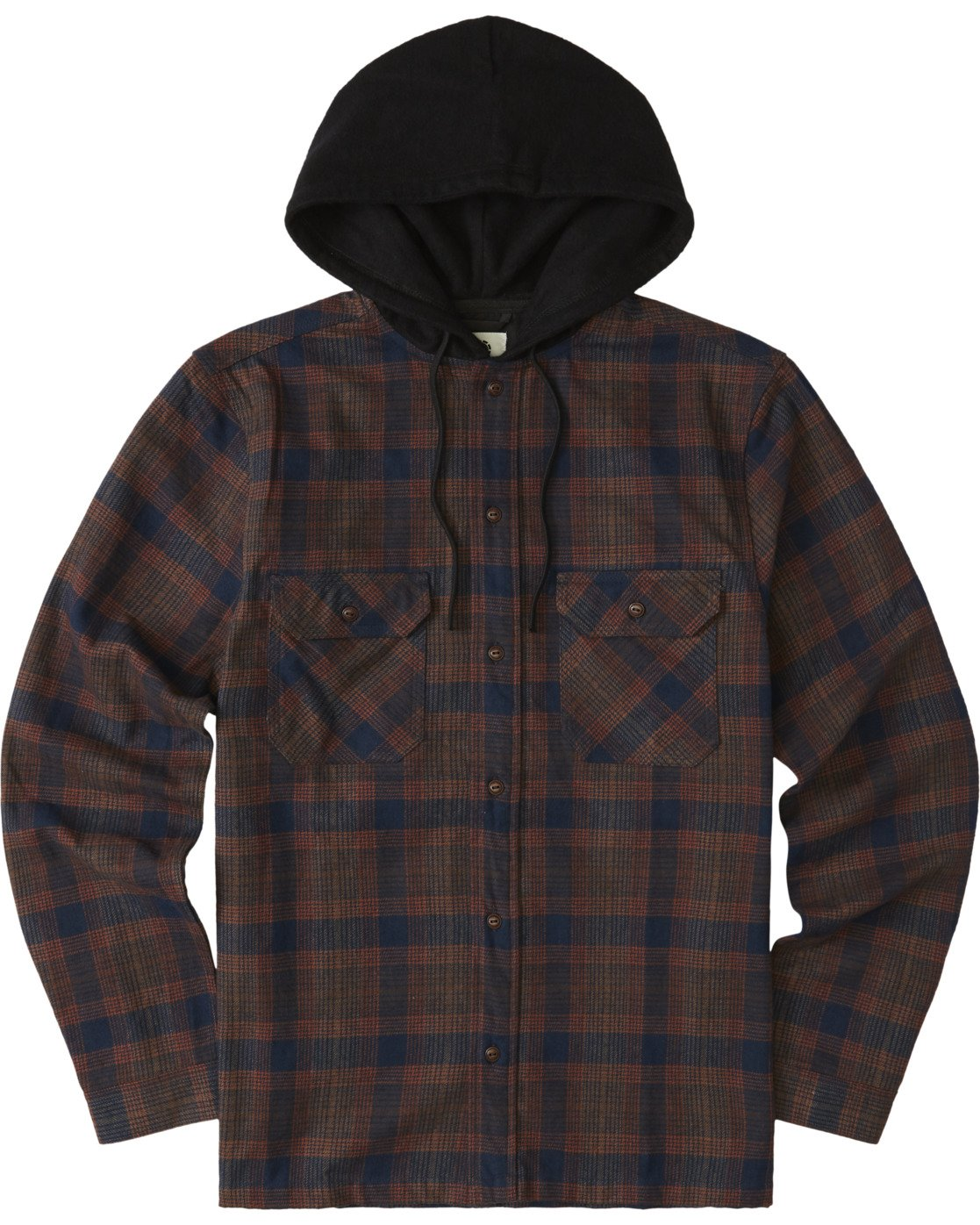 2 Wentworth Hooded Flannel Shirt Blue M554VEWB Element