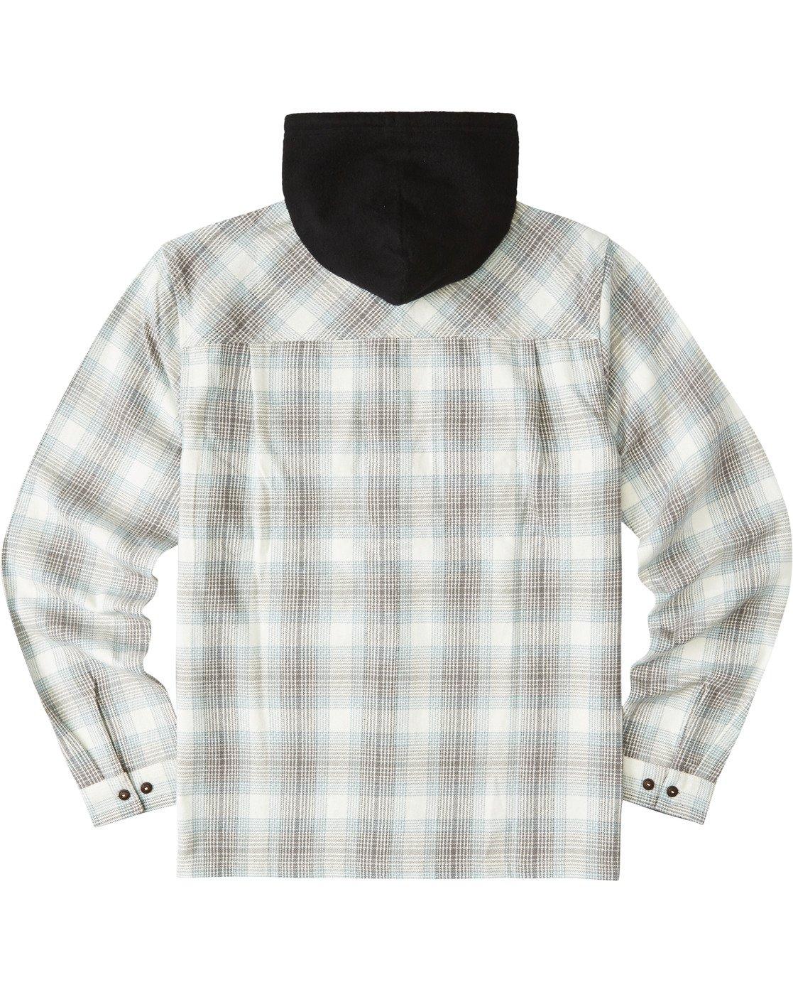 3 Wentworth Hooded Flannel Shirt White M554VEWB Element