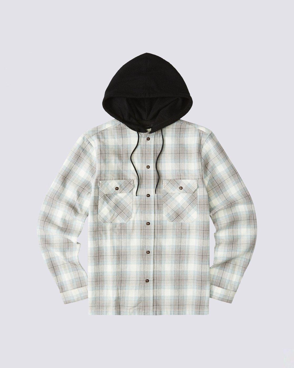 0 Wentworth Hooded Flannel Shirt White M554VEWB Element