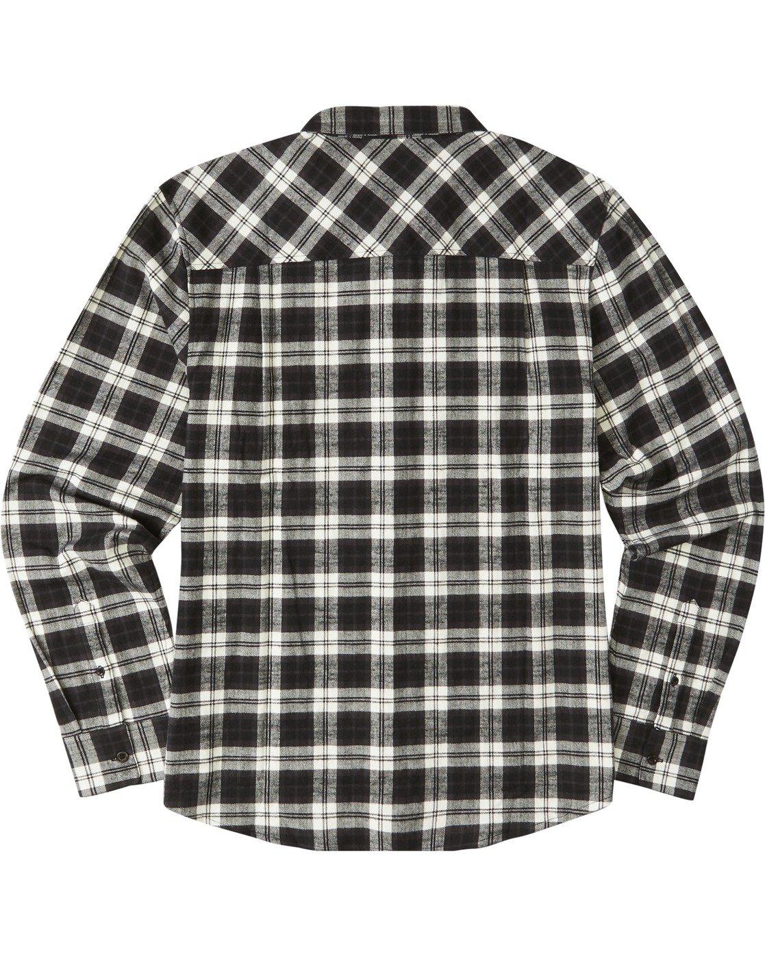 3 Tacoma Long Sleeve Flannel Shirt Black M5583ETA Element