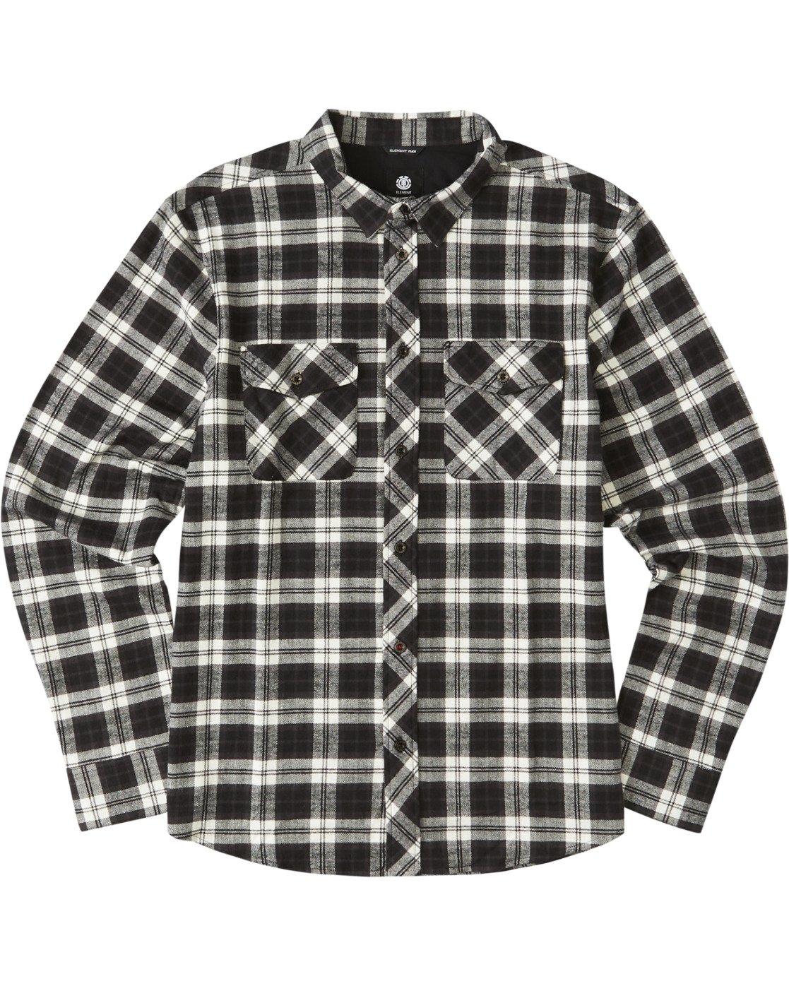 2 Tacoma Long Sleeve Flannel Shirt Black M5583ETA Element