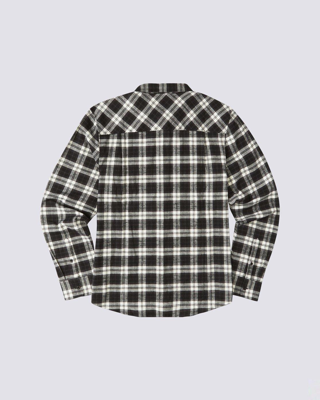 1 Tacoma Long Sleeve Flannel Shirt Black M5583ETA Element