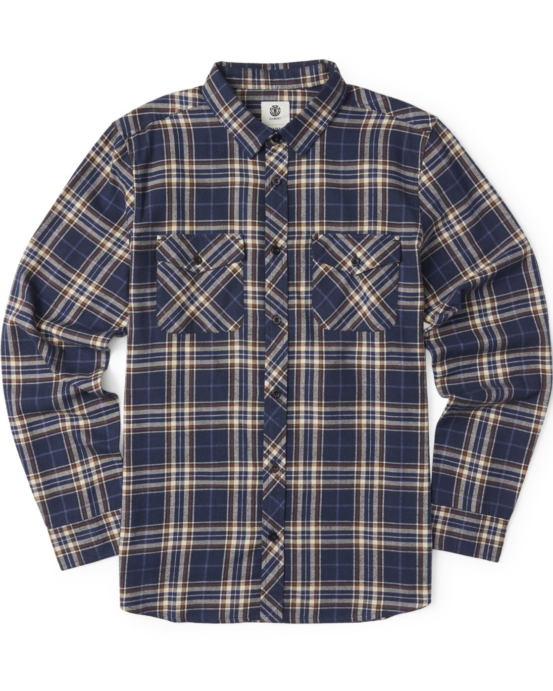 2 Medford Long Sleeve Flannel Shirt Blue M5643EME Element