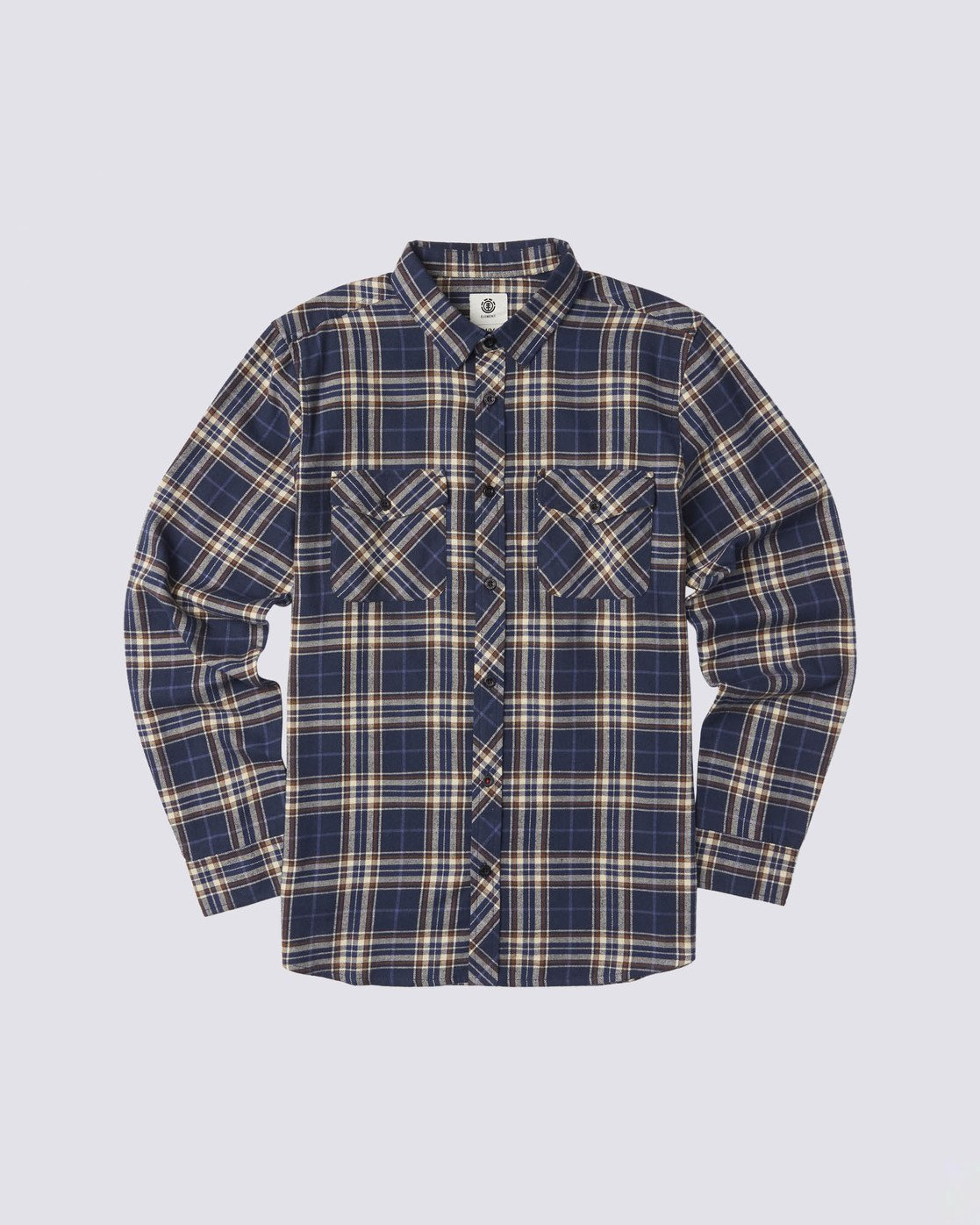 0 Medford Long Sleeve Flannel Shirt Blue M5643EME Element