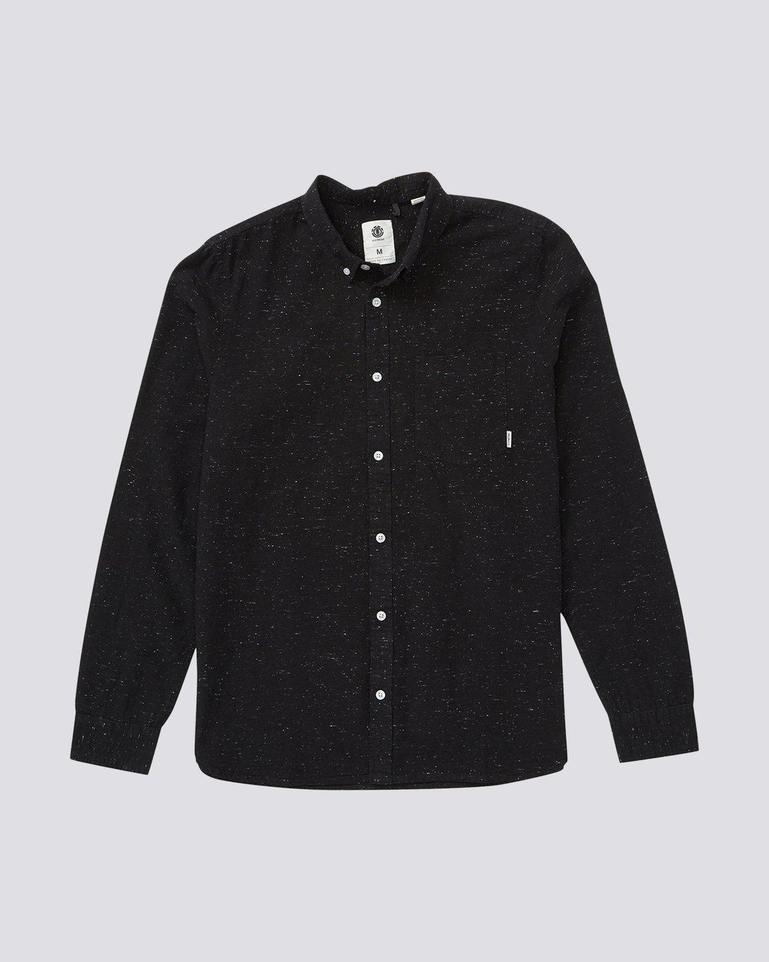 1 Greene Neps Long Sleeve Shirt Black M574QEGN Element