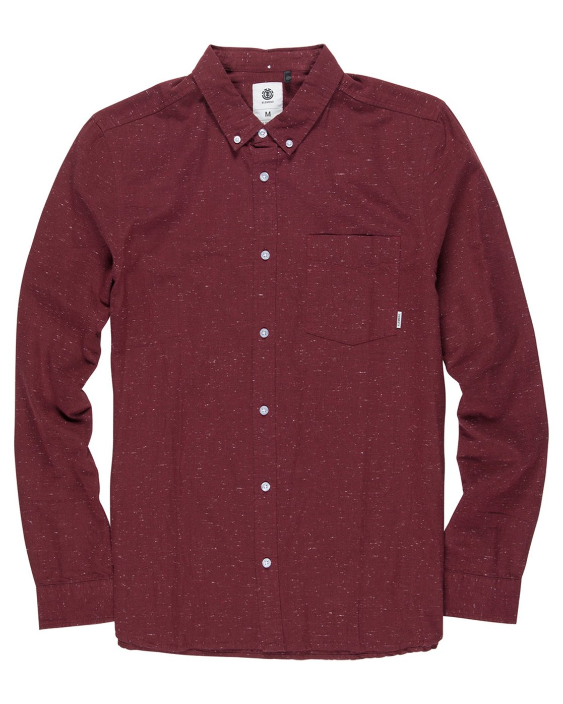 1 Greene Neps Long Sleeve Shirt Red M574QEGN Element