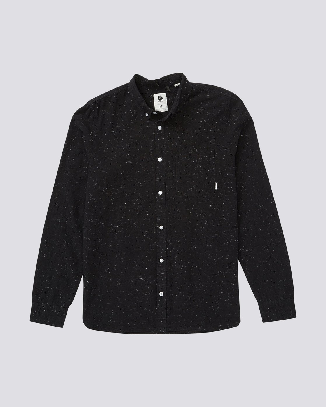 0 Greene Neps Long Sleeve Shirt Black M574QEGN Element