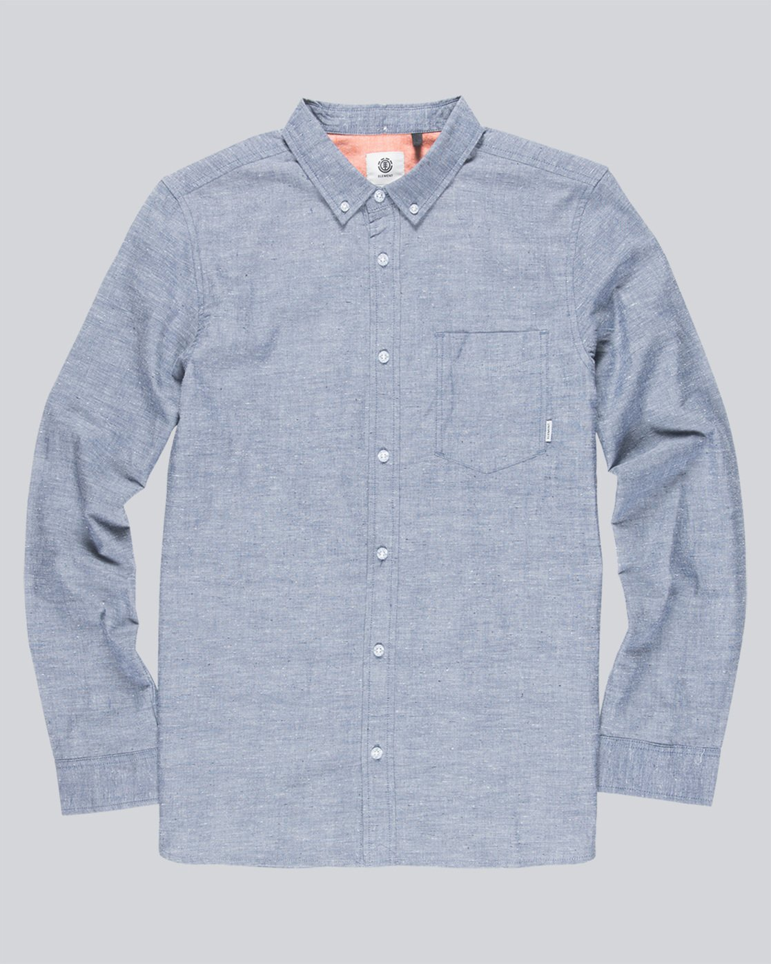 0 Greene Neps Long Sleeve Shirt  M574QEGN Element