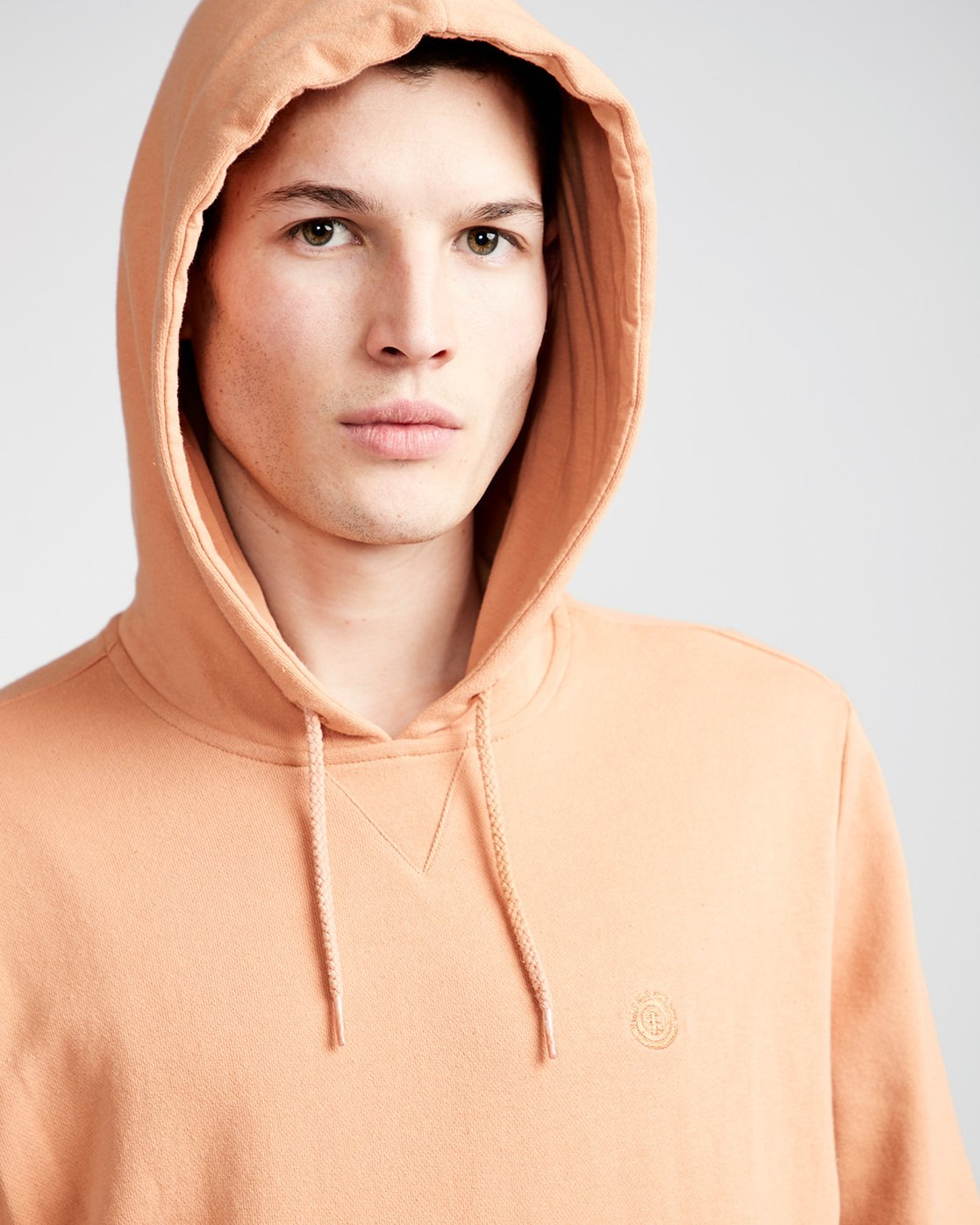 2 Cornell French Terry Pullover Hoodie Brown M606TECF Element
