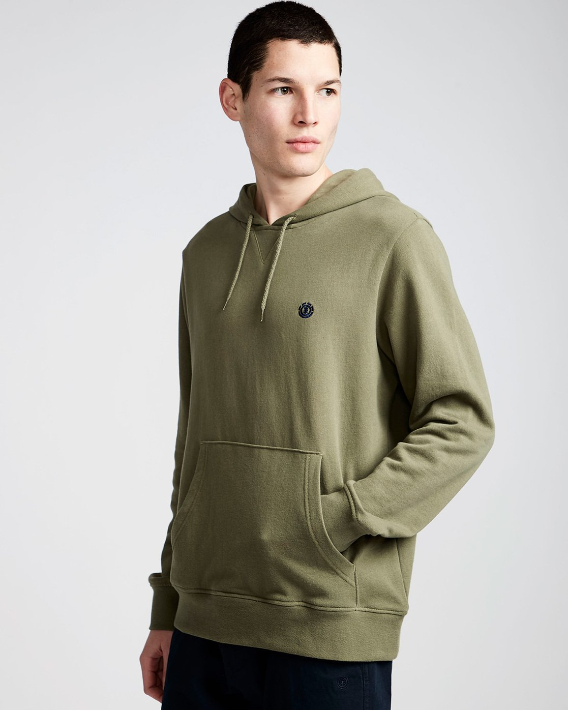 1 Cornell French Terry Pullover Hoodie Green M606TECF Element