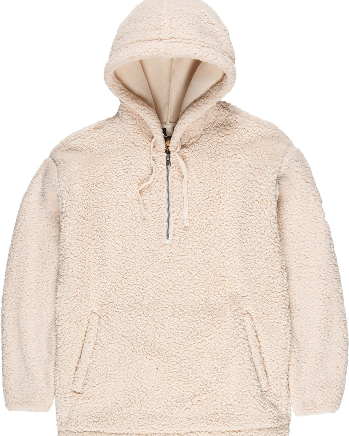 4 Big Shearling Hoodie White M642WEBS Element