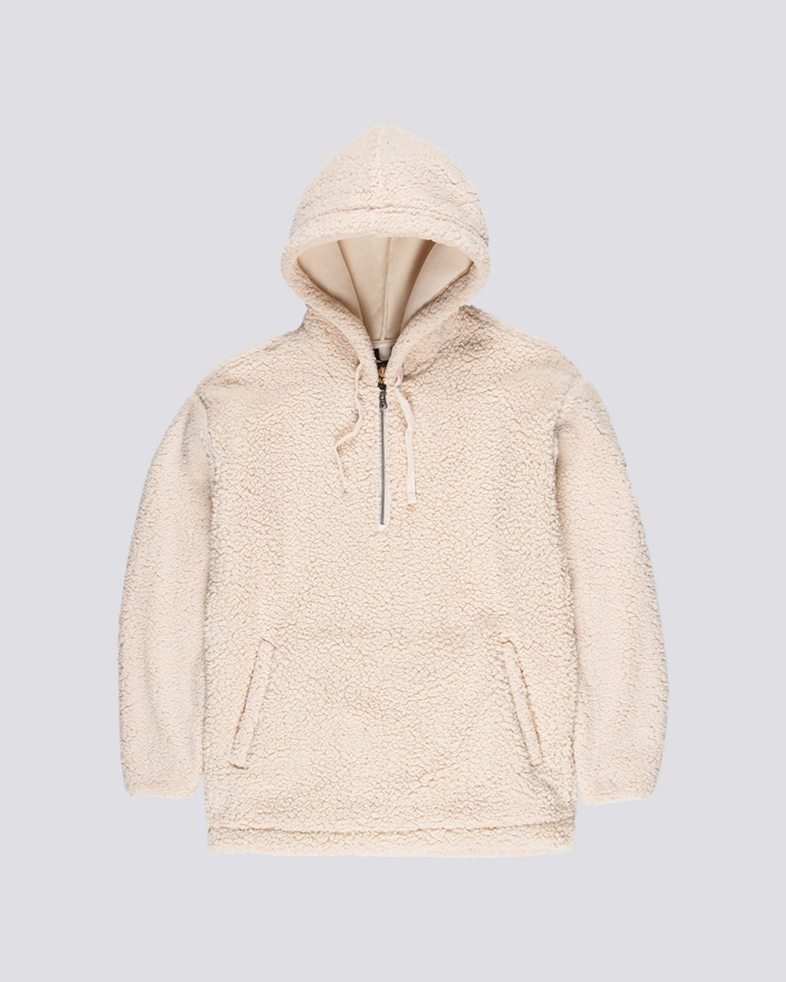0 Big Shearling Hoodie White M642WEBS Element
