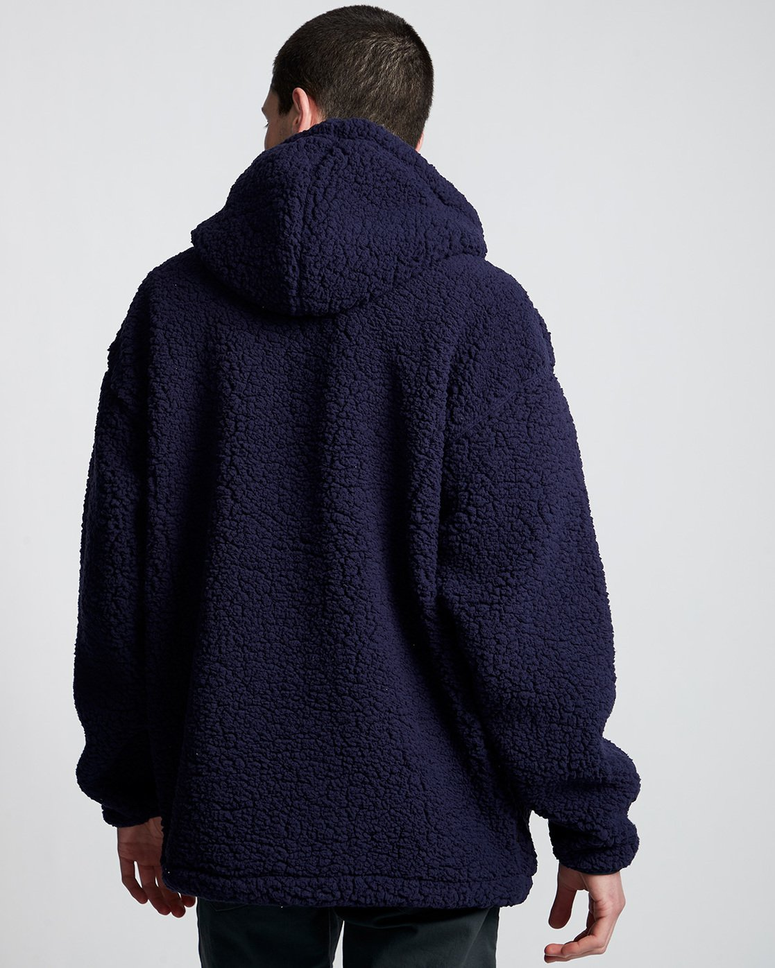 3 Big Shearling Hoodie Blue M642WEBS Element