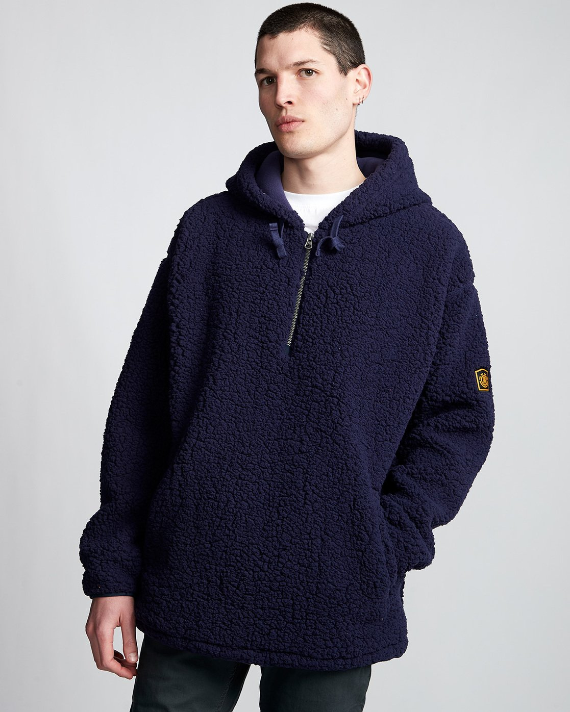1 Big Shearling Hoodie Blue M642WEBS Element