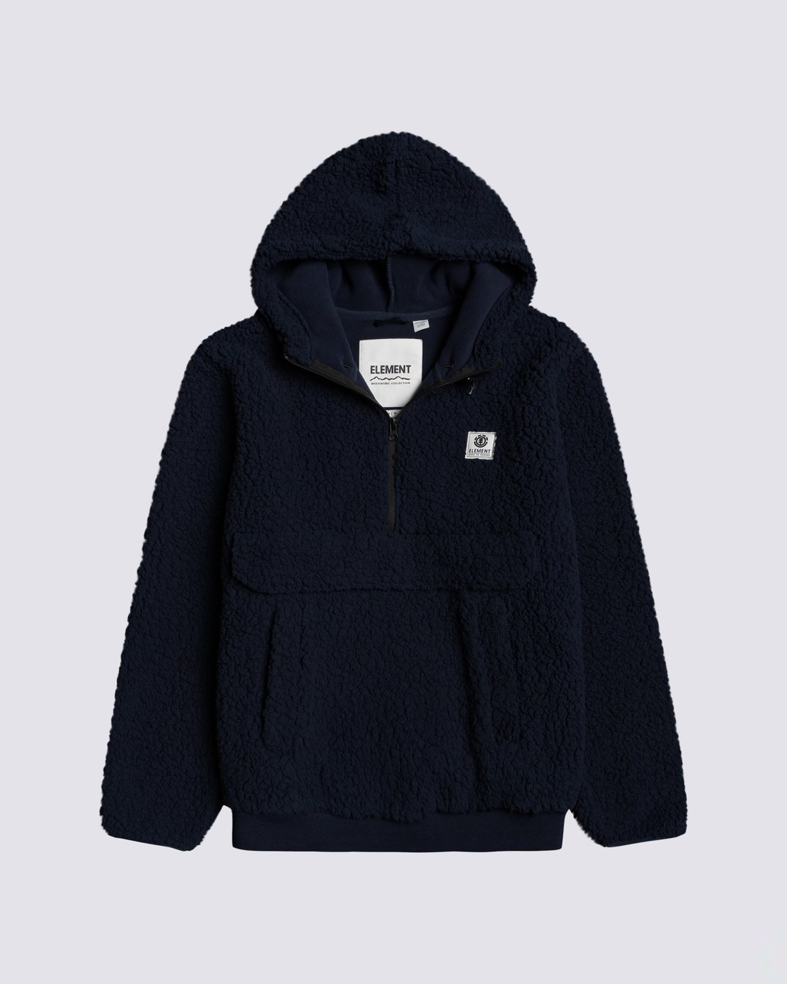 0 Faroe Qtr-Zip Fleece Pullover Blue M6483EFA Element