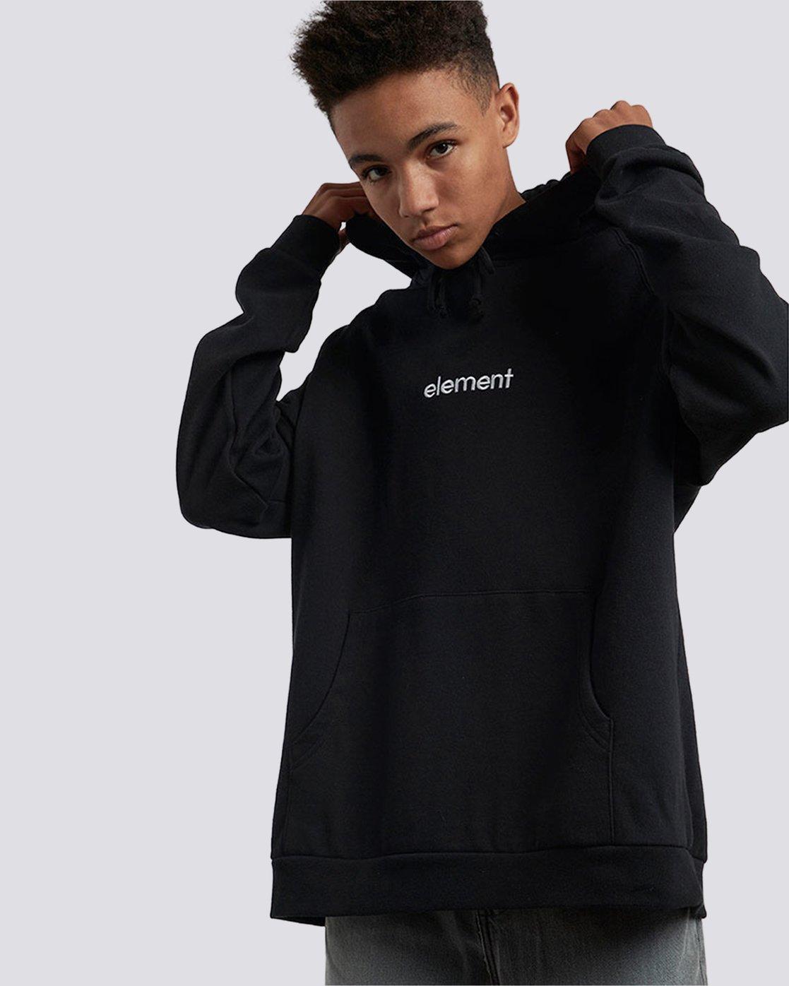 3 Big Hood Pullover Hoodie Black M657QEBH Element