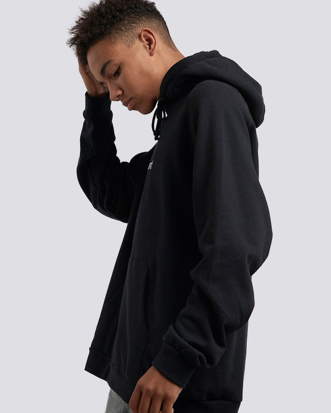 5 Big Hood Pullover Hoodie Black M657QEBH Element