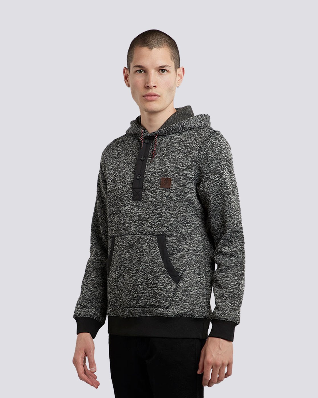 1 Highland Henley Hoodie Black M659QEHH Element