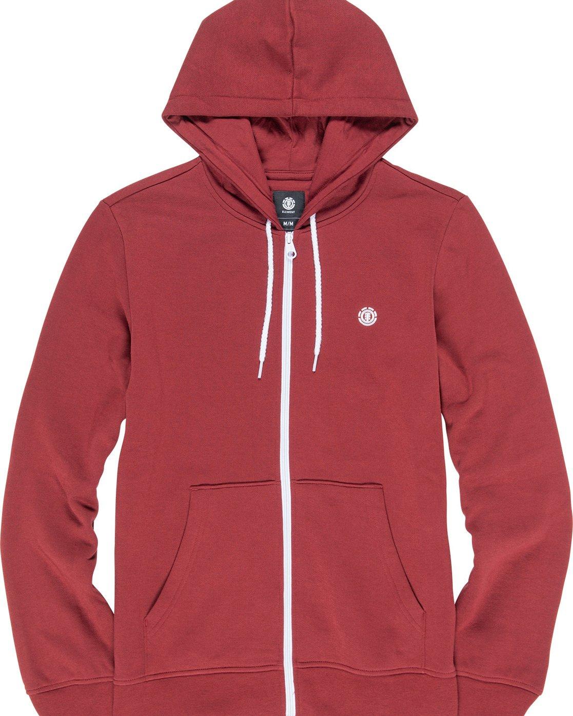1 Cornell Classize Zip Hoodie Red M662VECZ Element