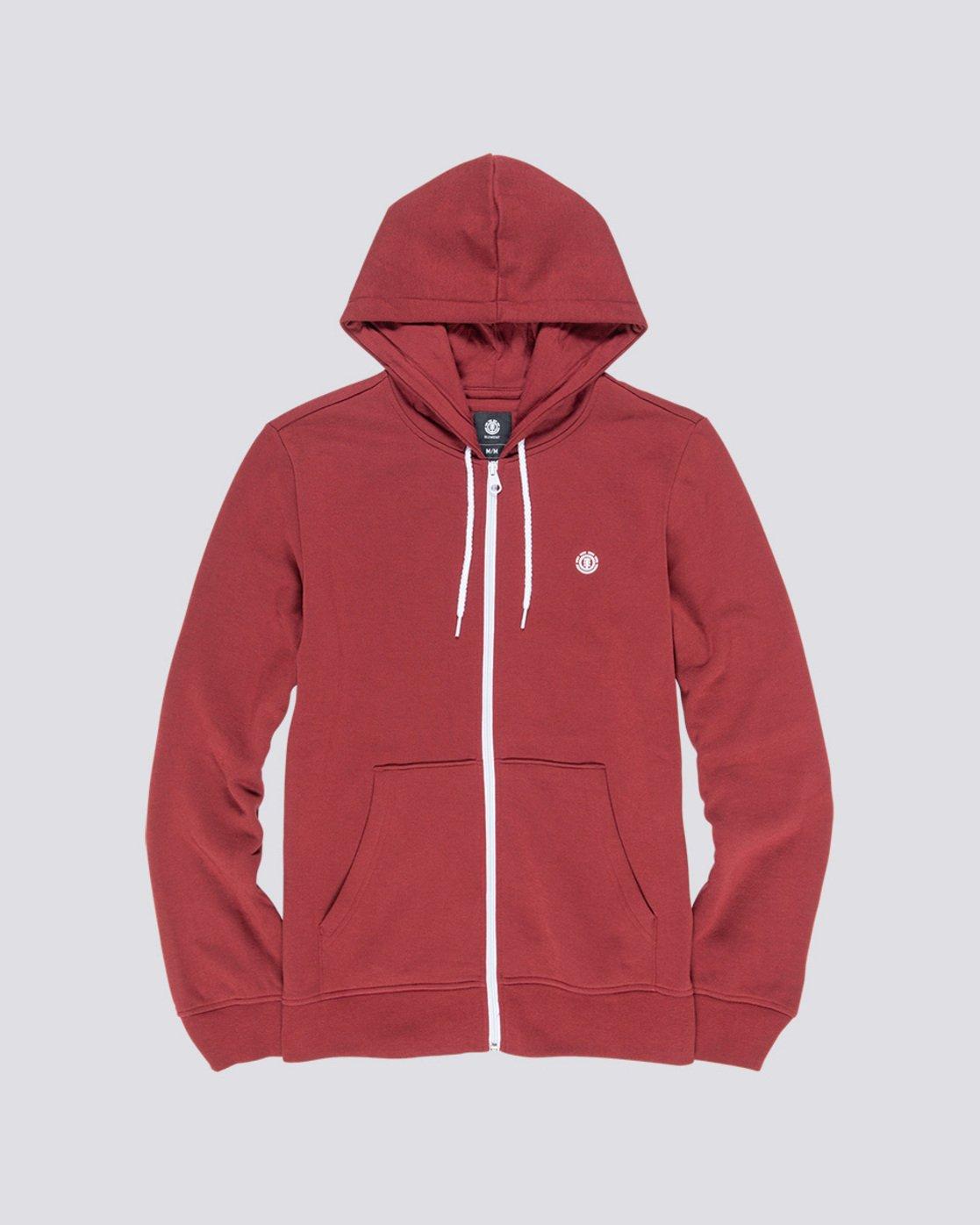 0 Cornell Classize Zip Hoodie Red M662VECZ Element