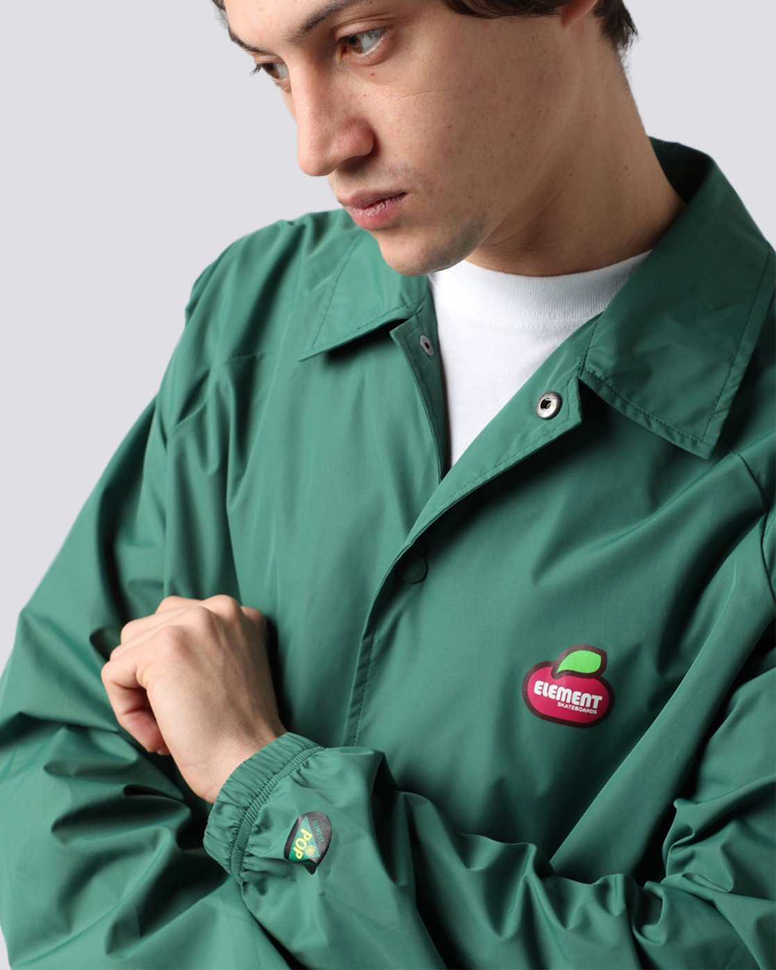 4 Yawye Coach Jacket Green M712NEYJ Element