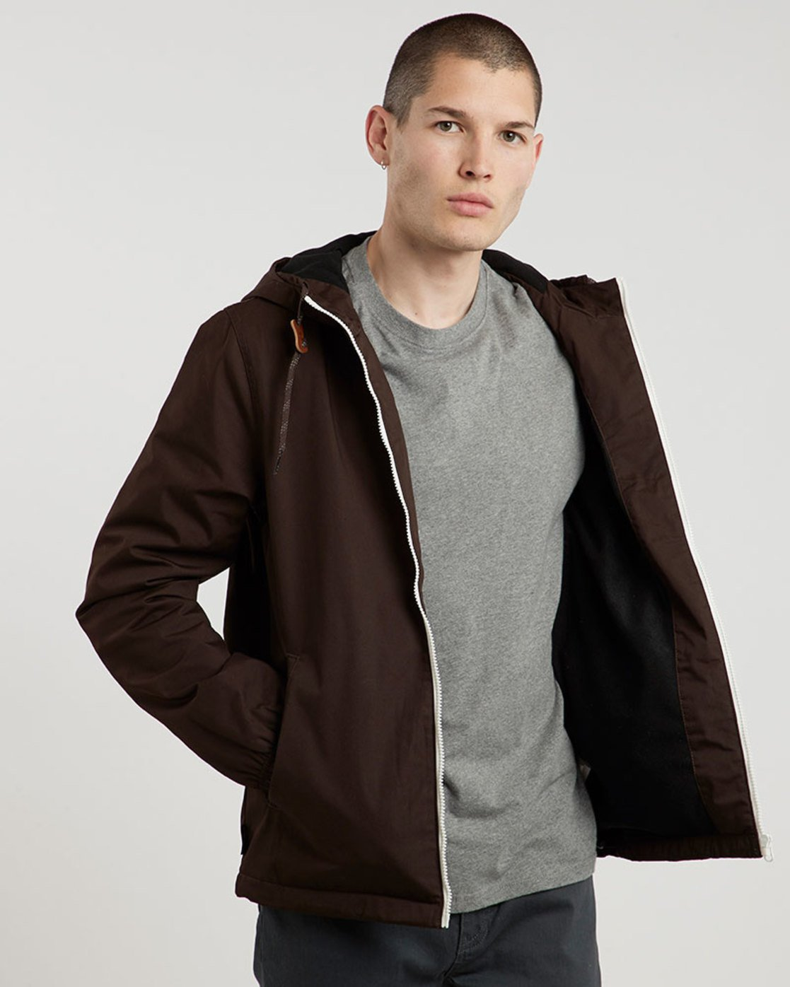 2 Alder Jacket Brown M726QEAL Element