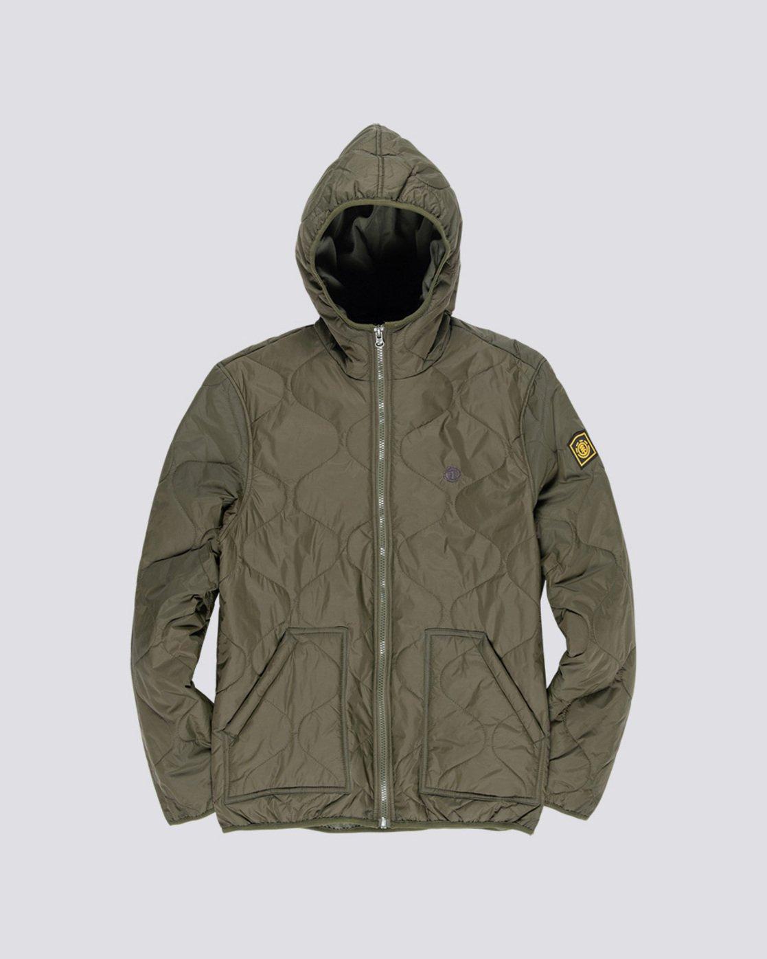 0 Davis 2 T-Shirt Jacket Green M789VEAL Element