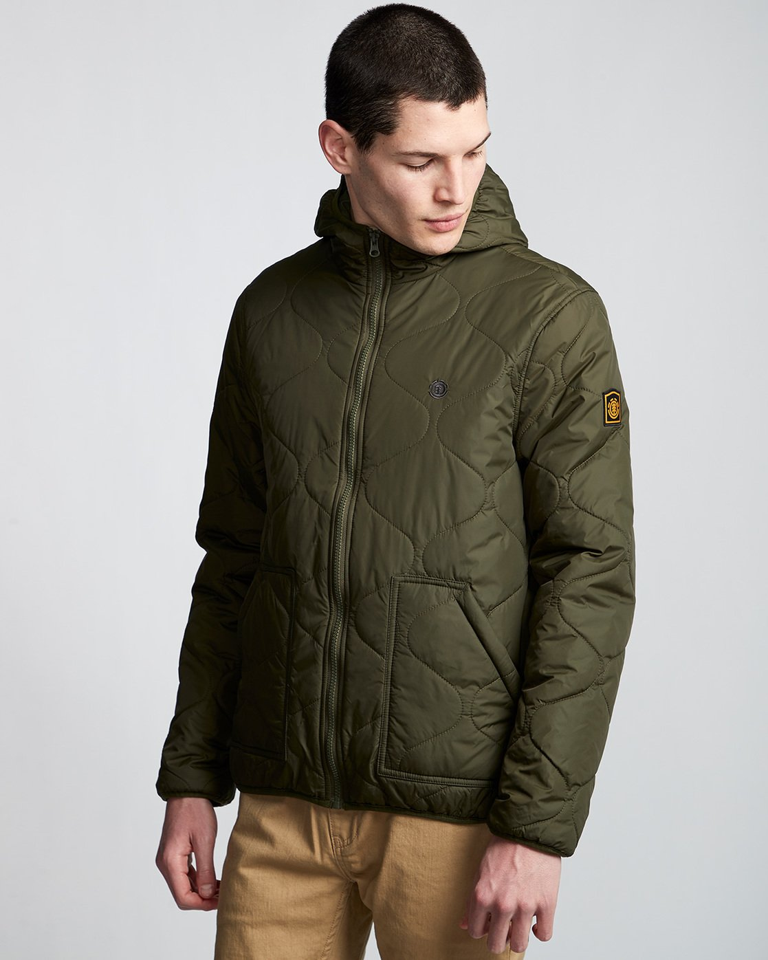 1 Albee Jacket Green M789VEAL Element