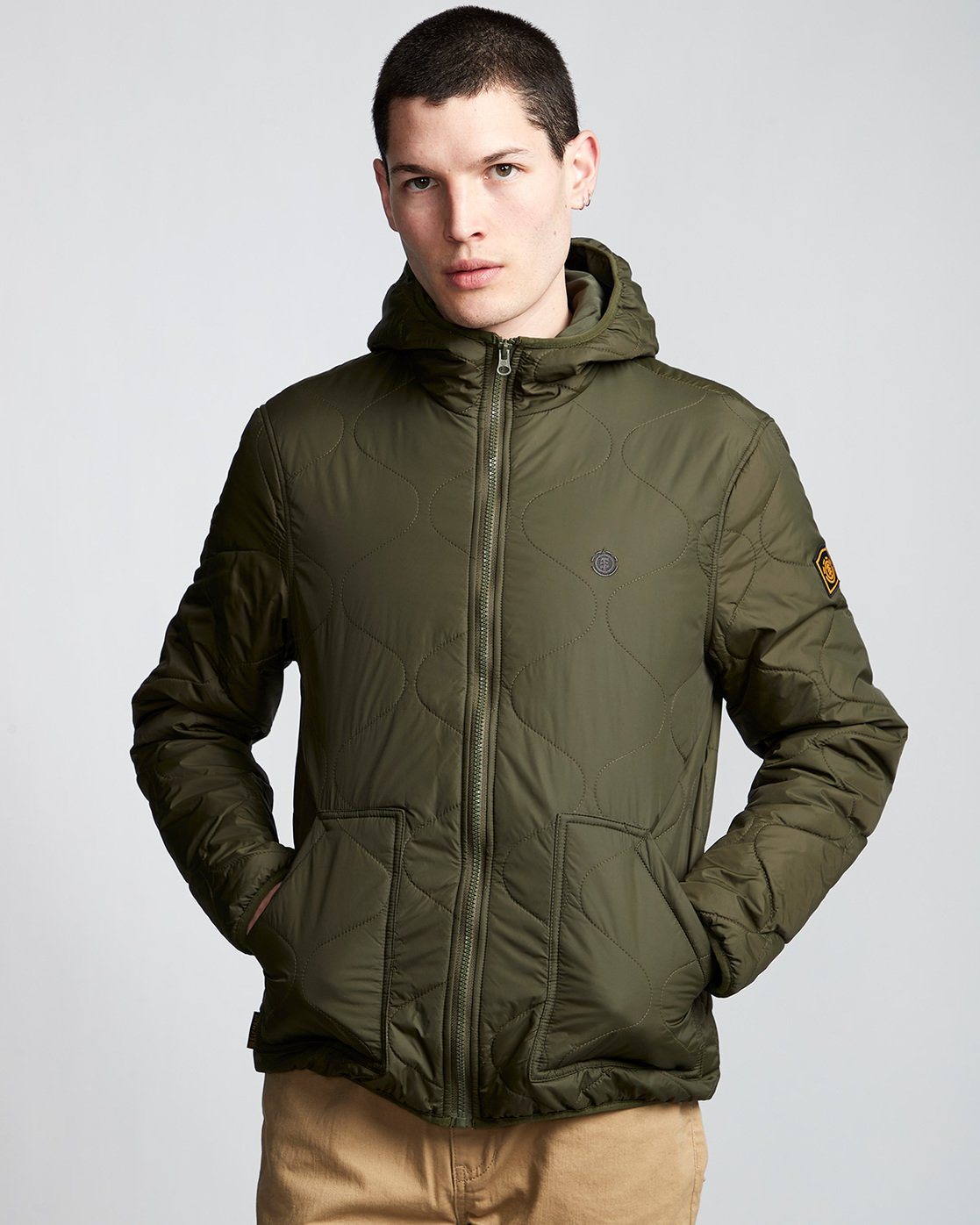 2 Albee Jacket Green M789VEAL Element