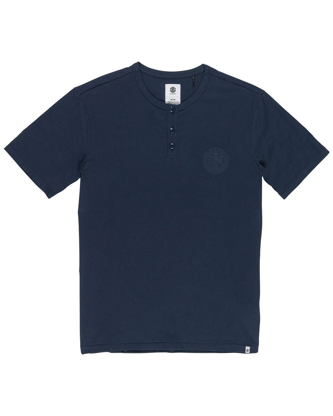 1 Vidock Short Sleeve Henley Tee Blue M924SEVD Element