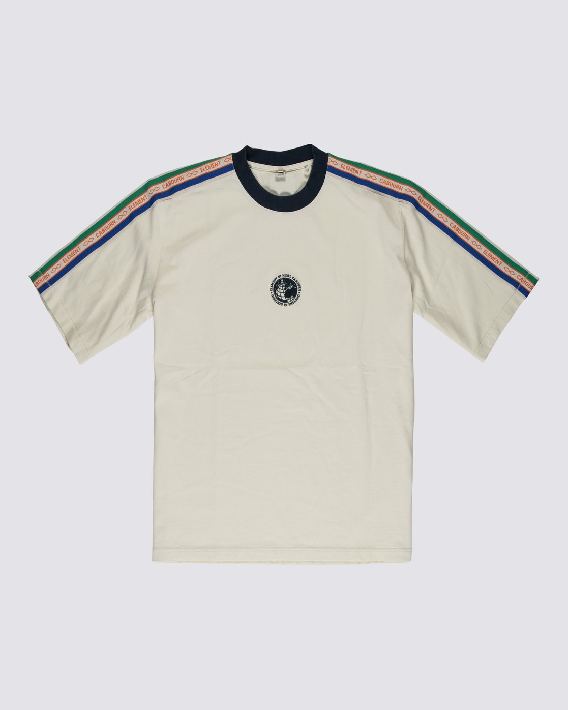 0 Element by Nigel Cabourn Big Sports Taped Crew Tee White M9301EBS Element