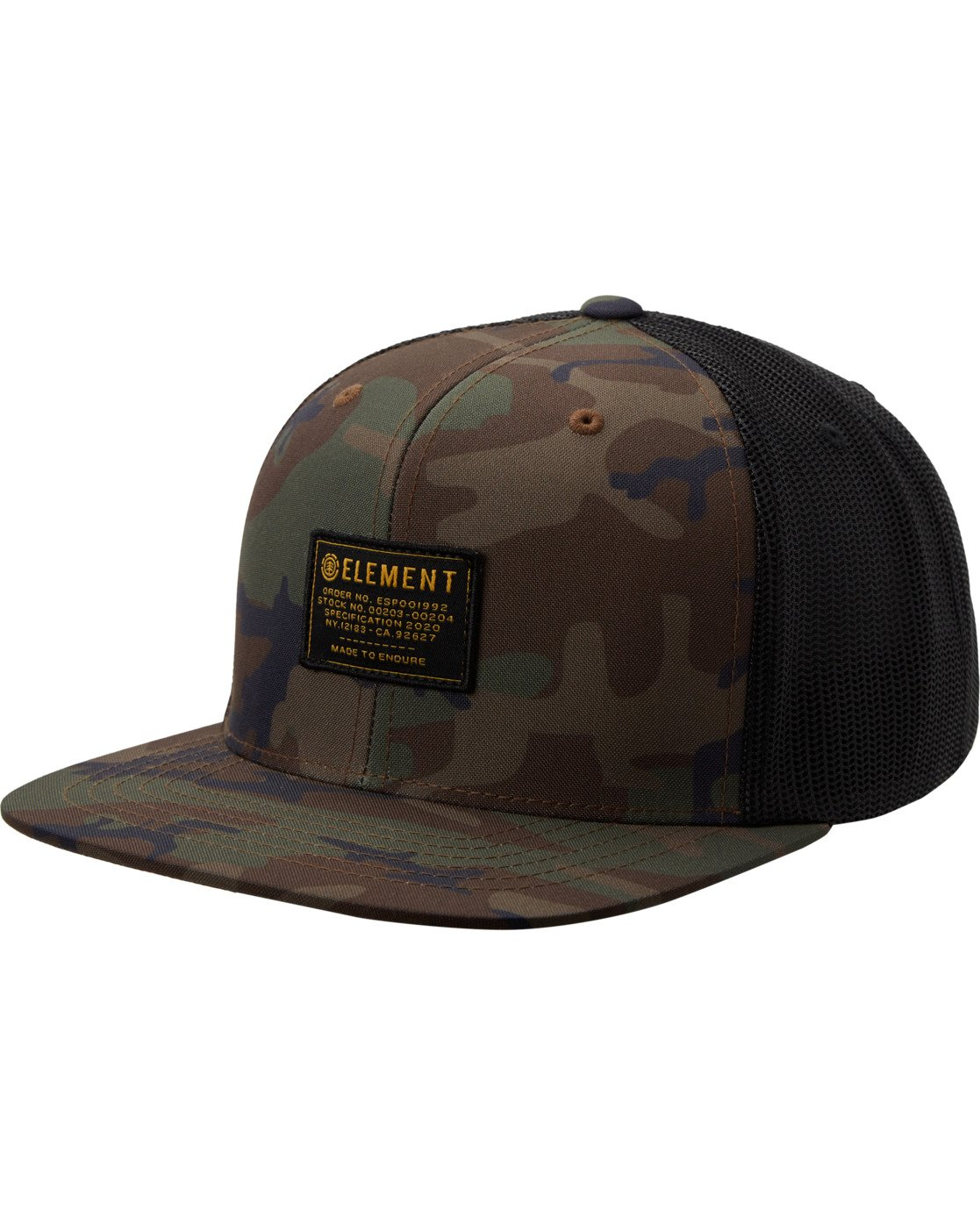 4 Recruit Snapback Hat Black MAHT3ERE Element
