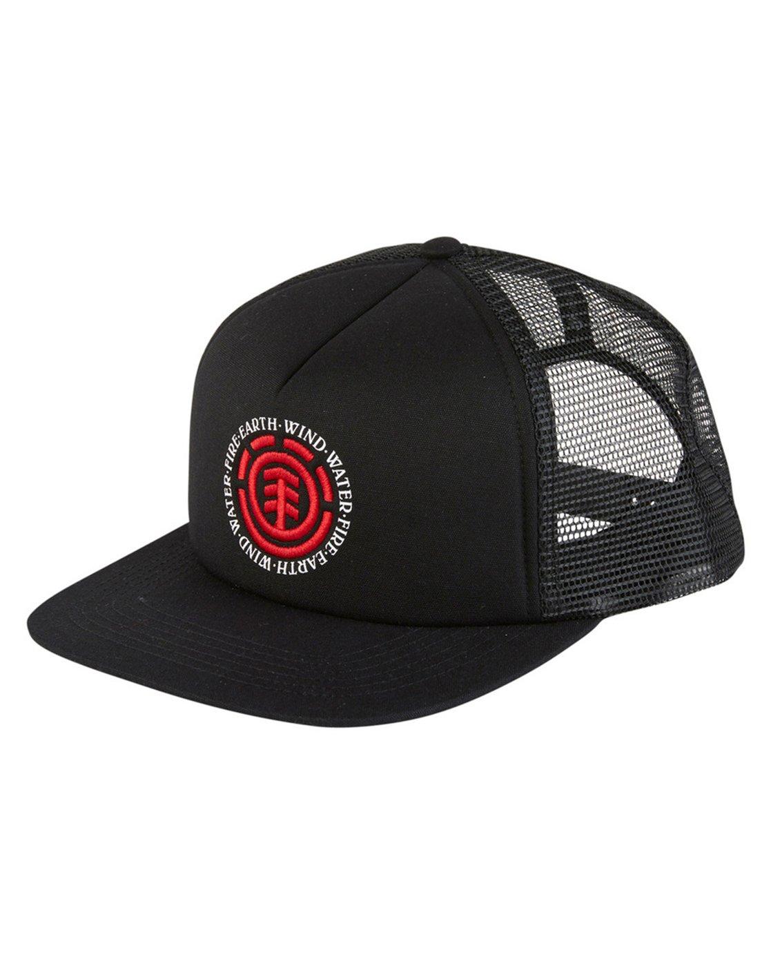 1 Seal 2 Trucker Hat Black MAHTVEST Element