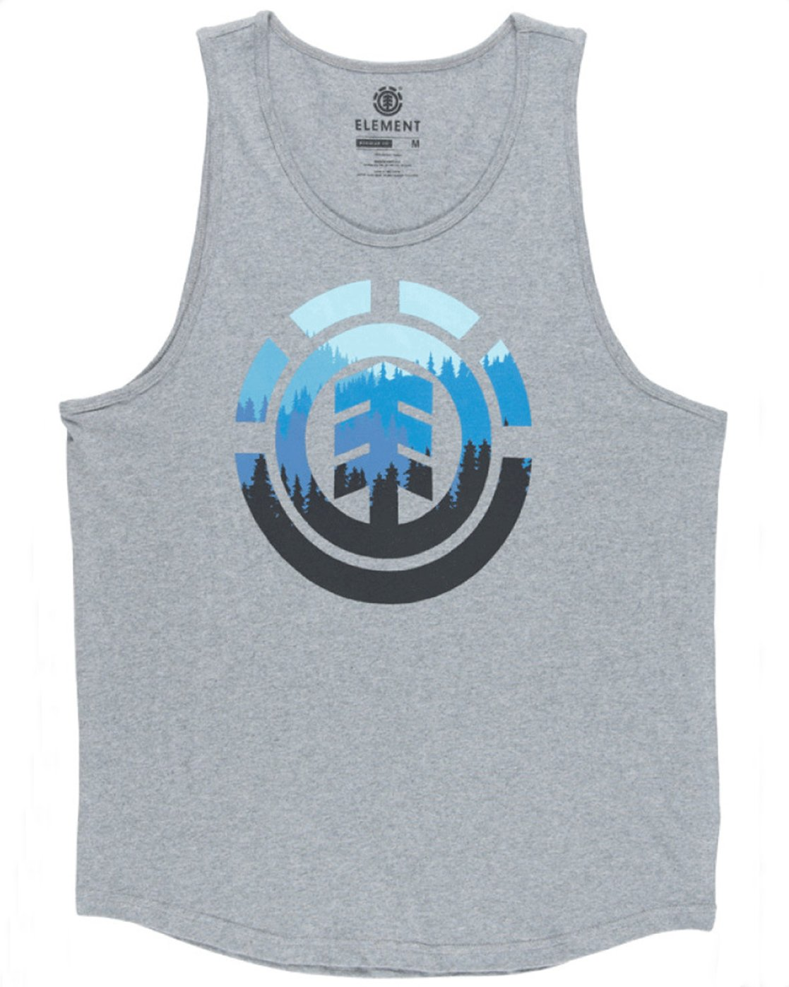 1 Glimpse Icon Tank Top Grey MT90TEGL Element