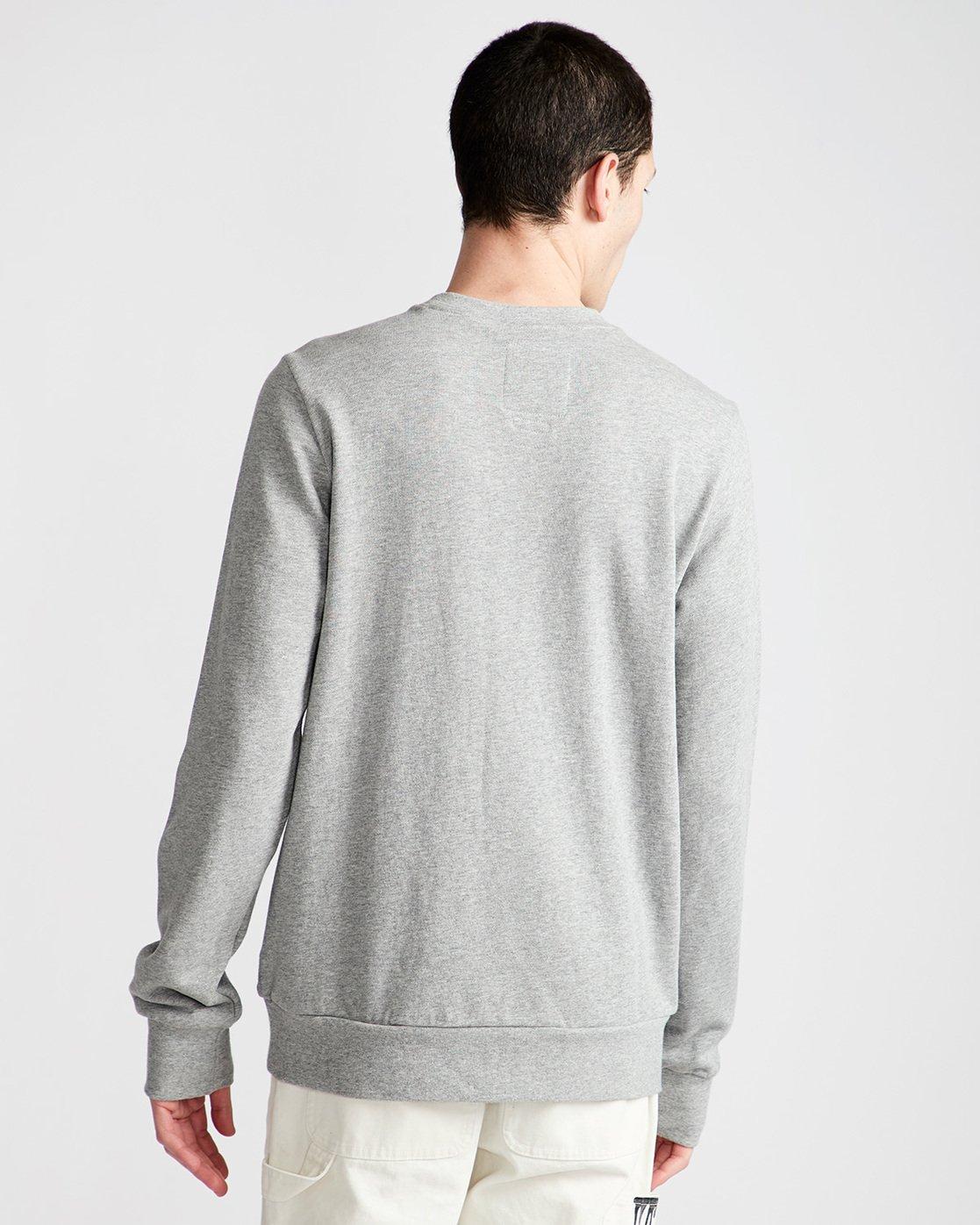 2 By Hand Crew - Fleece for Men Grey N1CRB4ELP9 Element