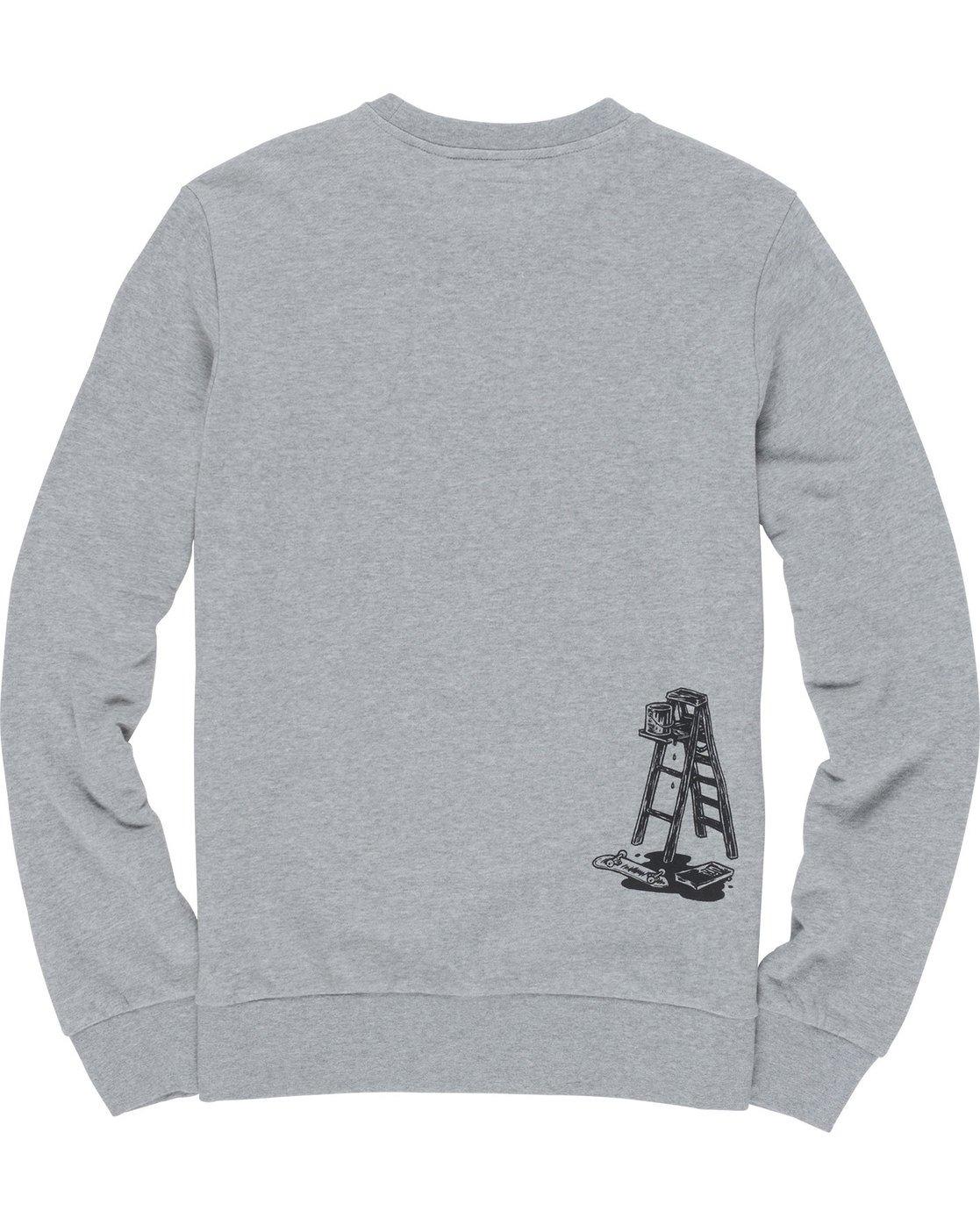 6 Spilt Crew - Fleece for Men Grey N1CRB6ELP9 Element