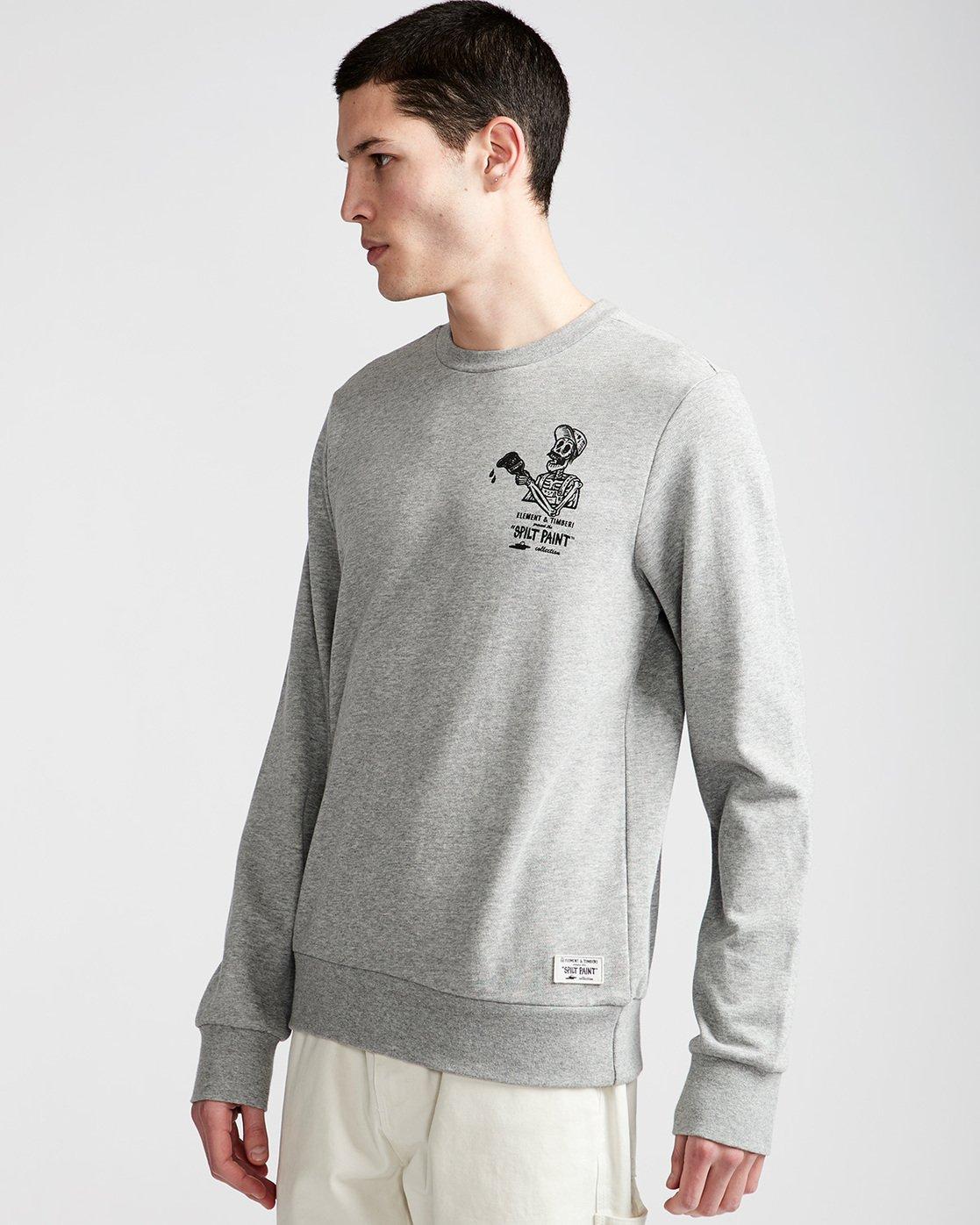 0 Spilt Crew - Fleece for Men Grey N1CRB6ELP9 Element