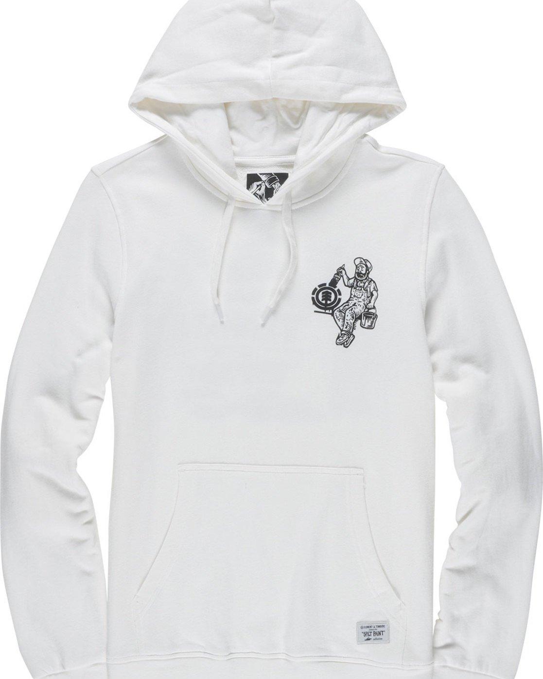 6 Crew Ho - Fleece for Men White N1HOB7ELP9 Element
