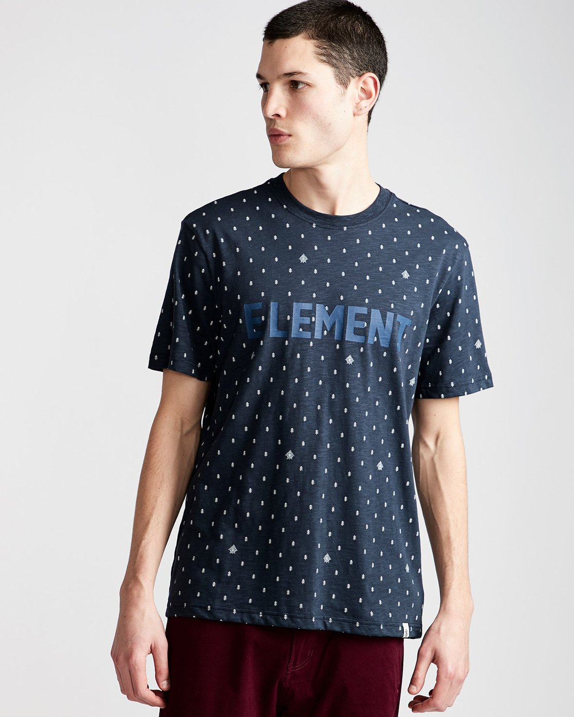 0 Kenny Ss Crew - Knit for Men Blue N1KTB1ELP9 Element