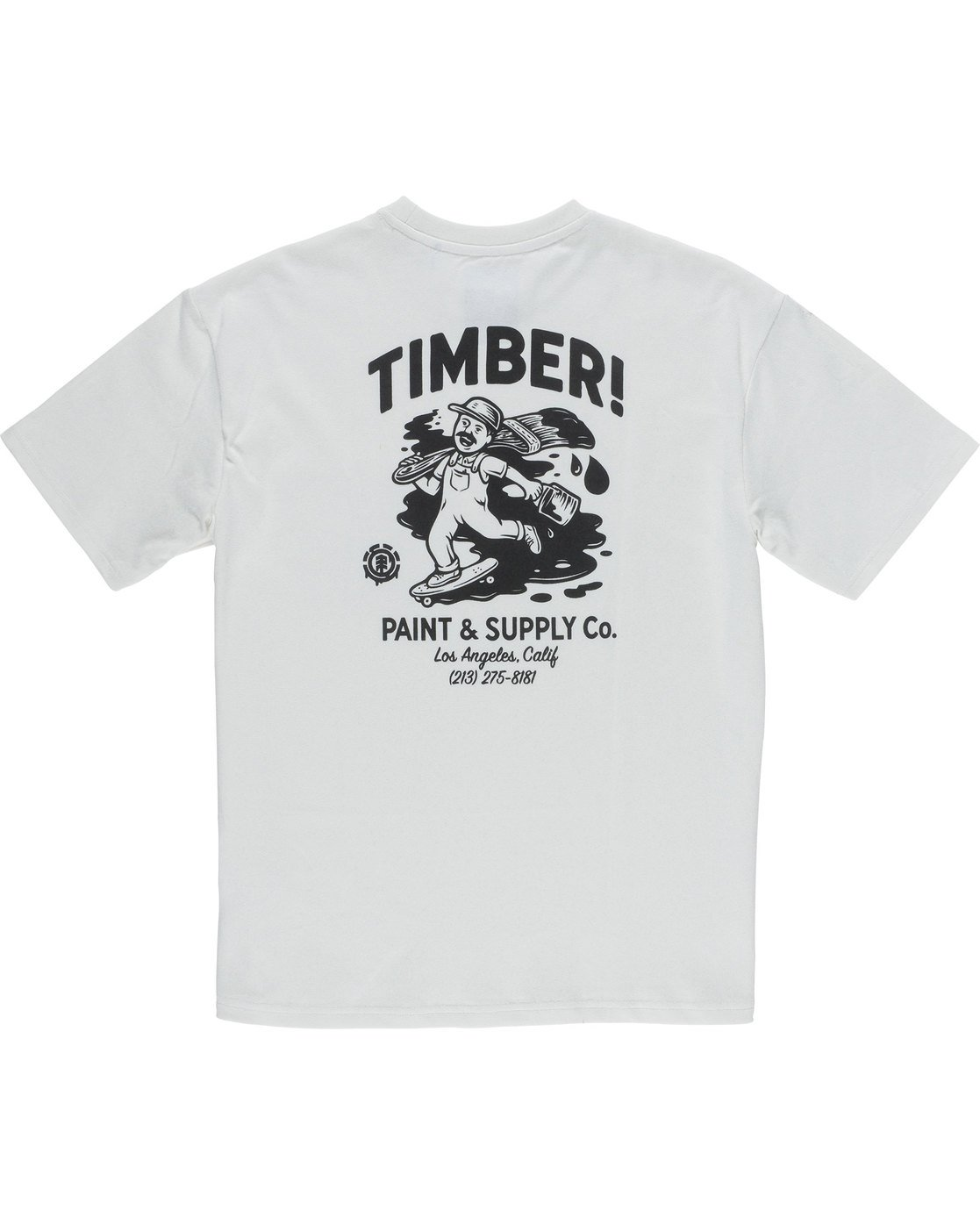 7 Timber Heavy Ss Tee - Knit for Men White N1KTC5ELP9 Element