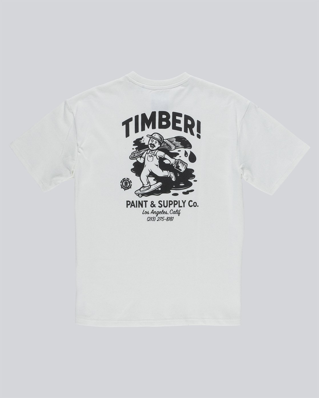 5 Timber Heavy Ss Tee - Knit for Men White N1KTC5ELP9 Element
