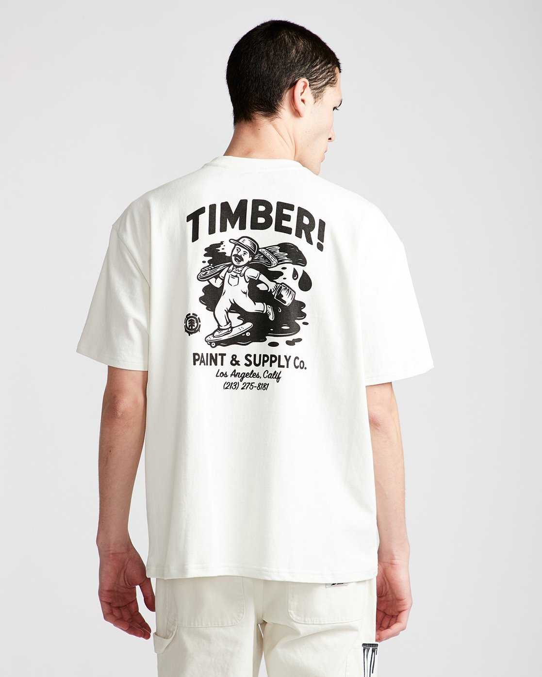 2 Timber Heavy Ss Tee - Knit for Men White N1KTC5ELP9 Element