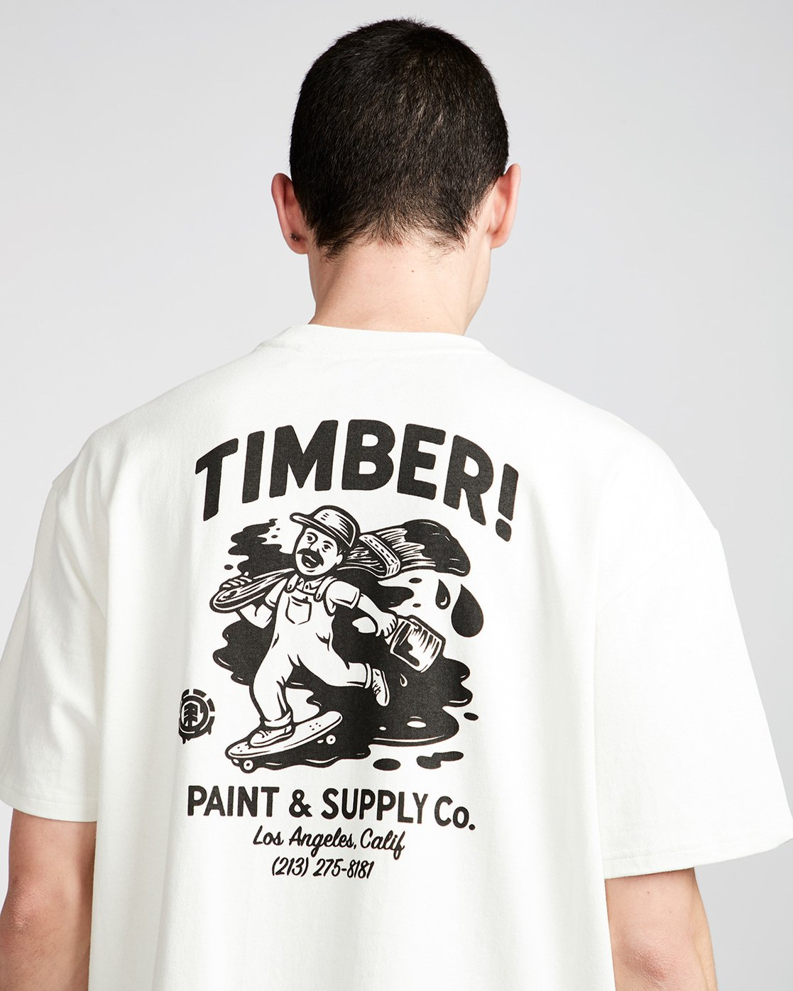 3 Timber Heavy Ss Tee - Knit for Men White N1KTC5ELP9 Element